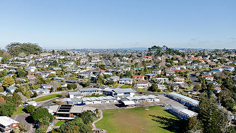 Aerial View Mairangi Bay School
