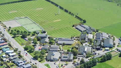 School aerial photo